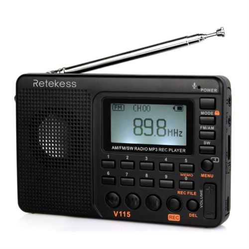 "Retekess V115 Portable AM <span class=""search-result-highlight"">FM</span> Radio with Shortwave MP3 Player"