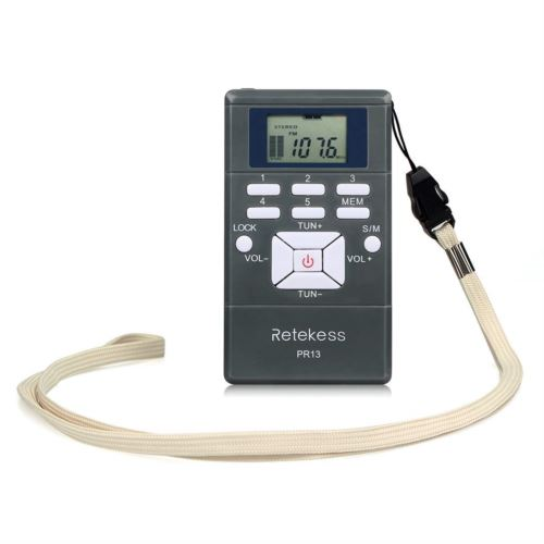 Retekess PR13 FM Radio Receiver with Earphone