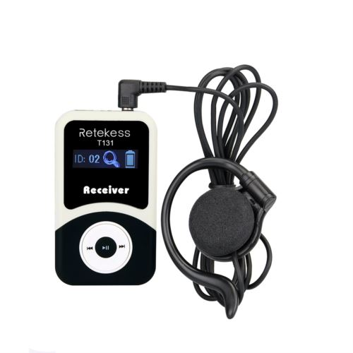 Retekess T131 Receiver for T130 Crystal Sound Tour Guide System