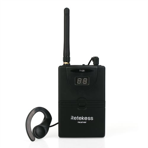 Retekess T129 Wireless Receiver 2.4GHz Tour Guide System 30 Channels