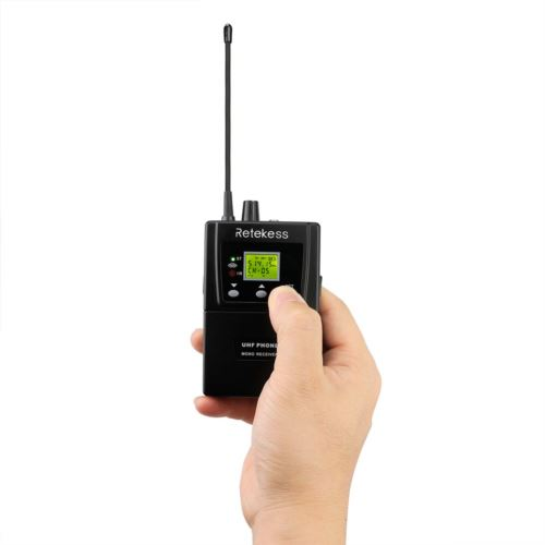 Retekess Wireless Conference System 2 Wireless Conference Transmitter with 10 Receivers IR Automatically Paired