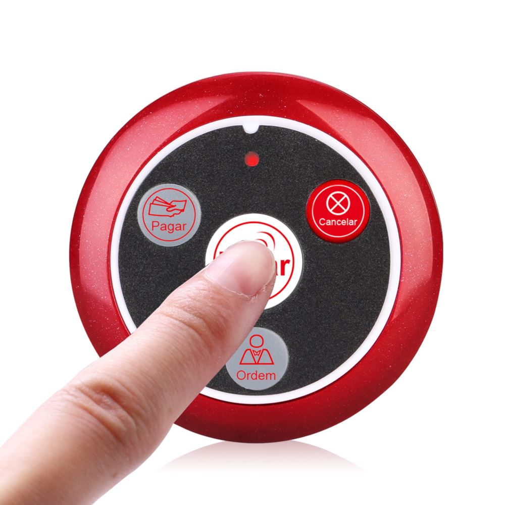 Retekess T117 433MHZ Wireless Service Call Button for Restaurant Healthcare Hospital Portuguese Version