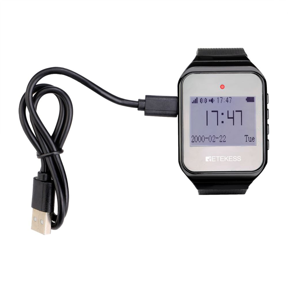 Black TD108 Wireless Watch Receiver English/ Portuguese / Russian Version
