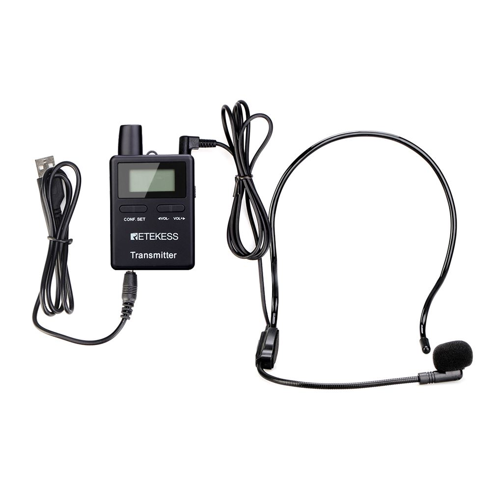 Retekess TT109 Tour Guide System 2.4GHz One Way Transmitter and Receiver