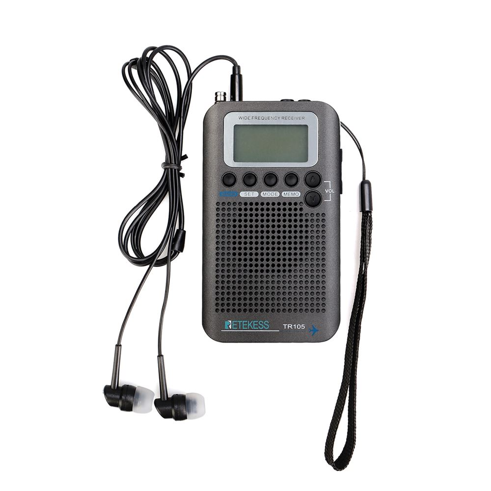 Retekess TR105 AM FM Shortwave Airband Pocket Radio with Sleep Timer