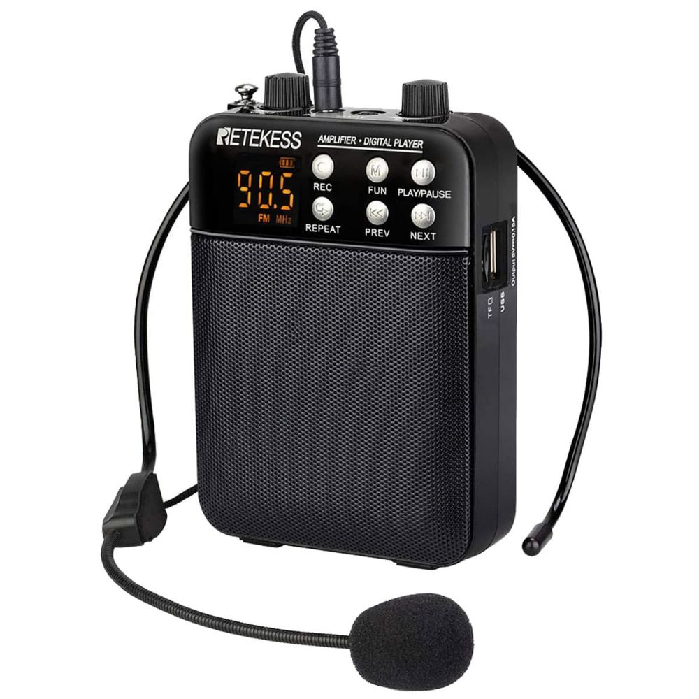 TR619 Voice Amplifier Microphone with FM Radio