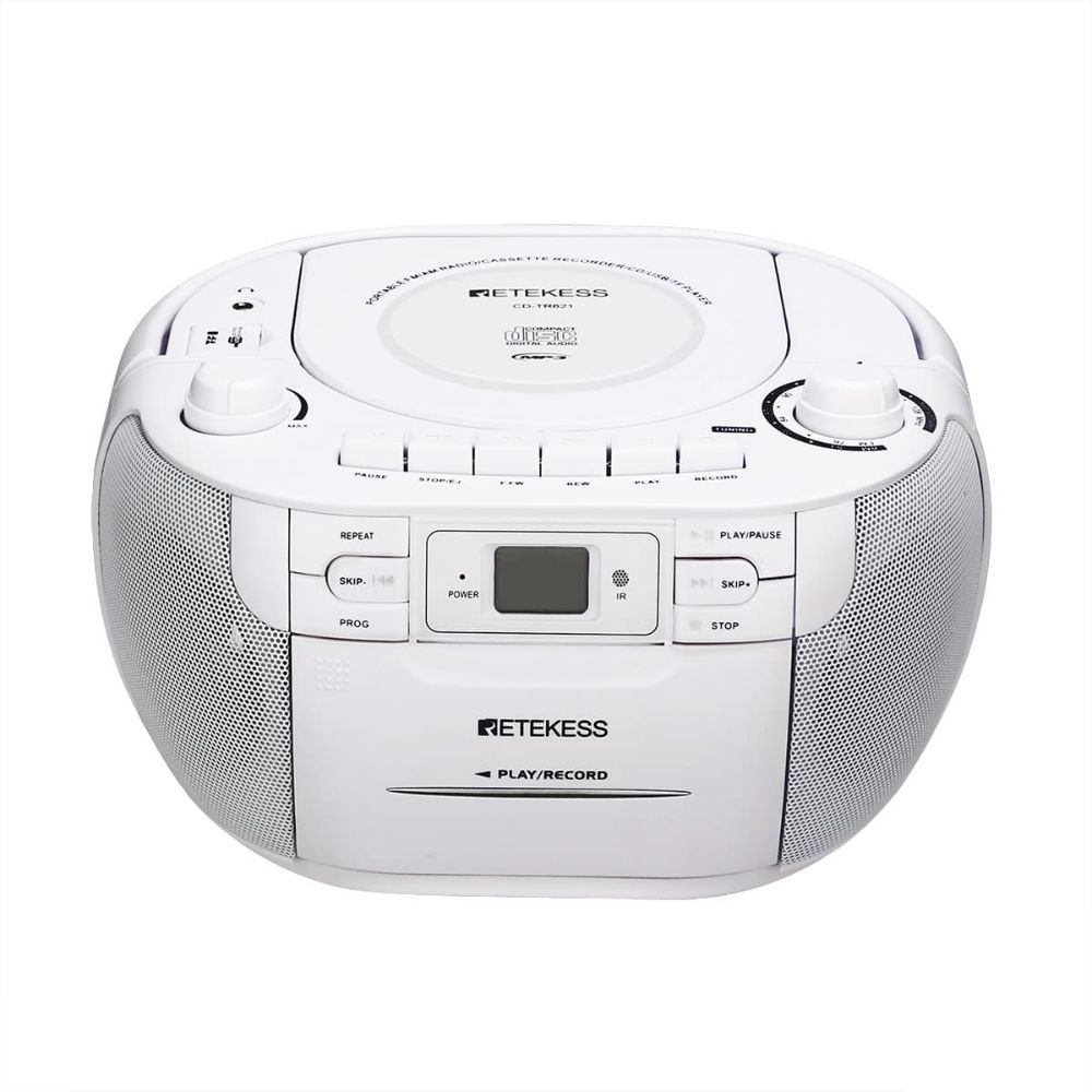 Retekess TR621 Boombox Radio with CD Cassette Player