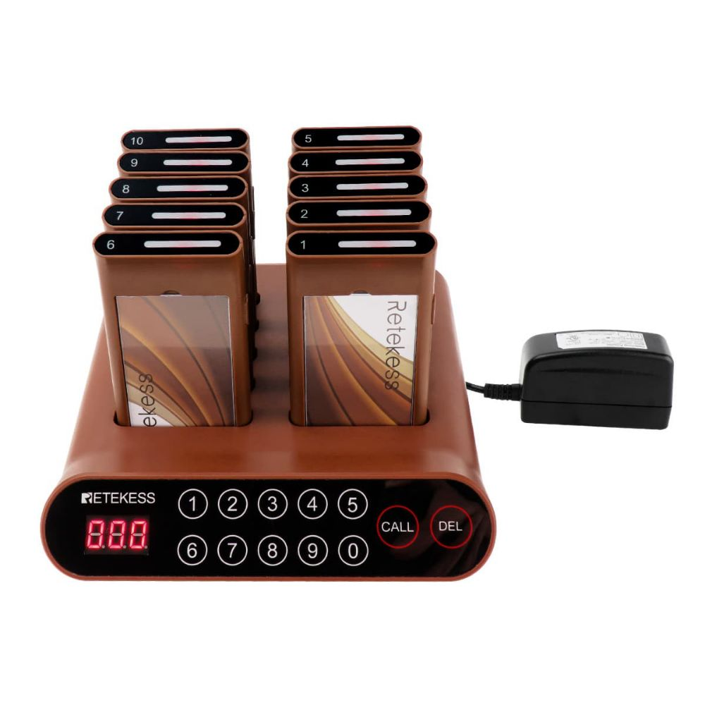 Retekess T116A Wireless Restaurant Paging System 999 Channels