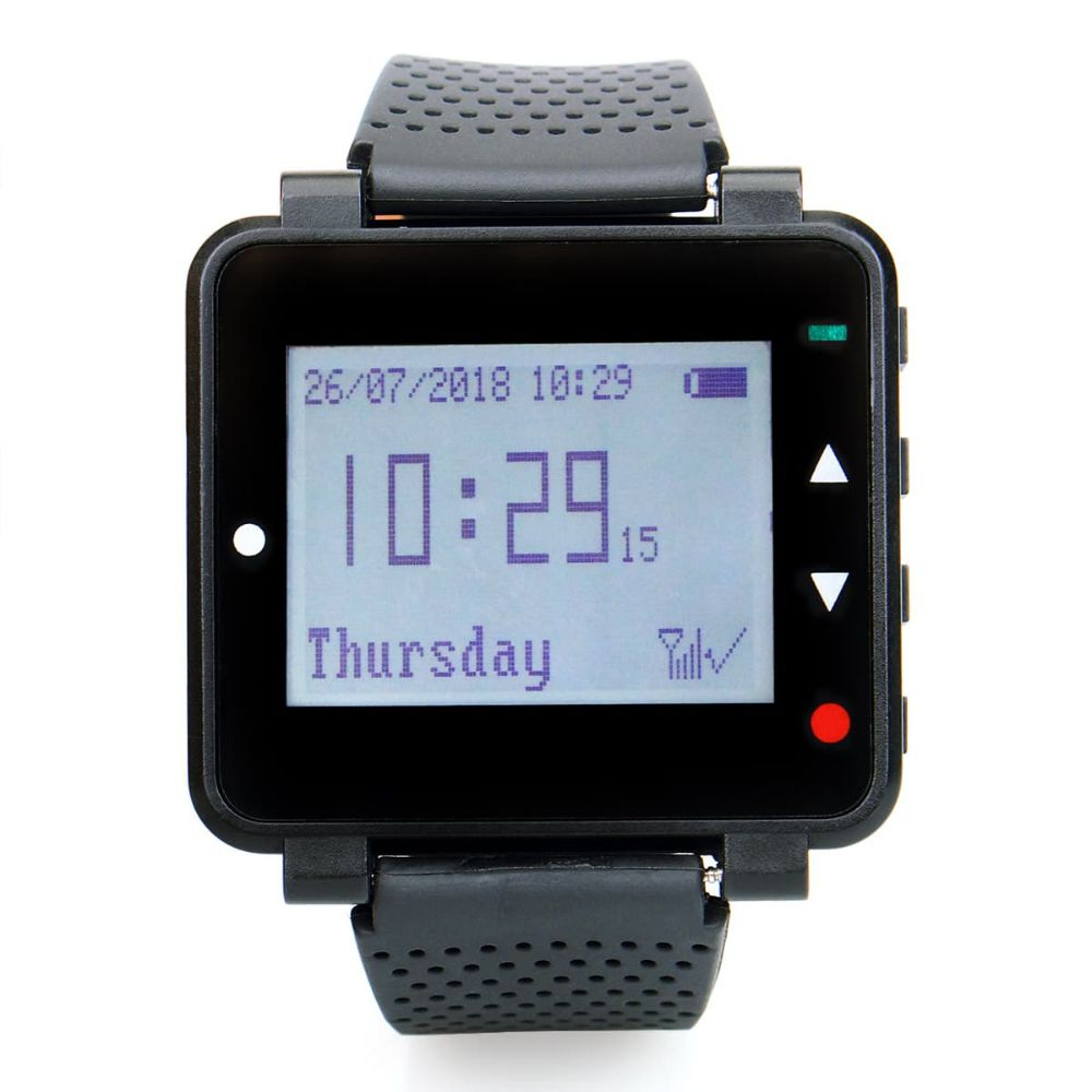 T128 Wrist Watch Receiver Pager System for Restaurant Church Bars