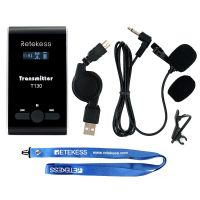 T130-tour-guide-system-wireless-transmitter-with-mic and USB charging cable