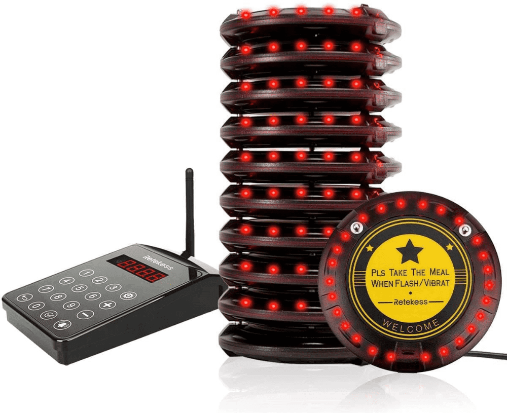 TD103 Wireless Coaster Paging System Long Range for Restaurant