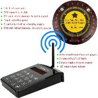 wireless coaster paging system