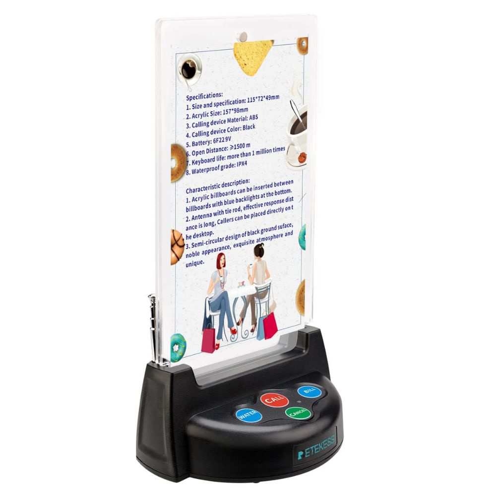 Retekess TD006 Table Call Button for Restaurant Paging System