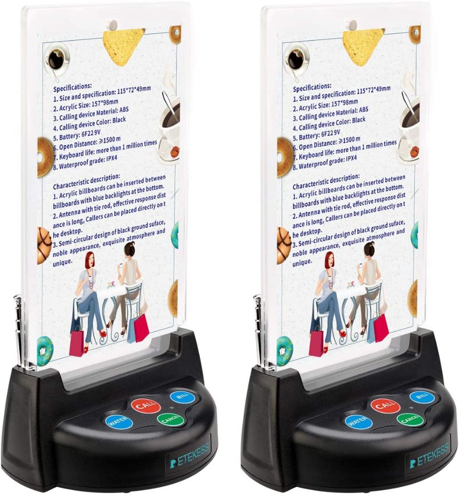 Retekess TD006 Table Service Call Button Paging System