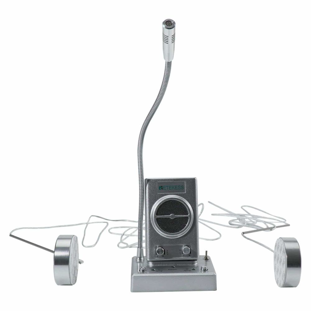 TW102 Dual Way Counter Intercom Support 2 Extension Speakers