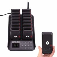 TD157-guest-paging-system-black-cost-effective-buzzer-system-for-business