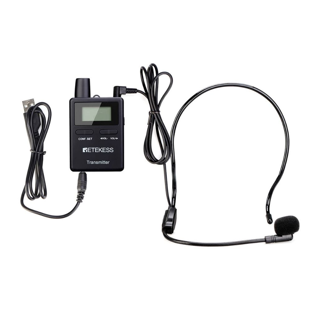 Retekess TT109 Tour Guide Transmitter 2.4GHz One Way