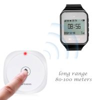 long range call button with watch receiver