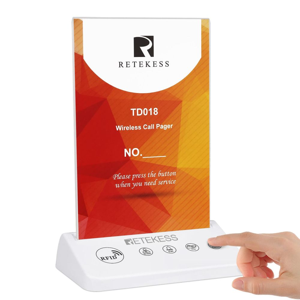 Retekess TD018 Table Call Button for Wireless Calling System