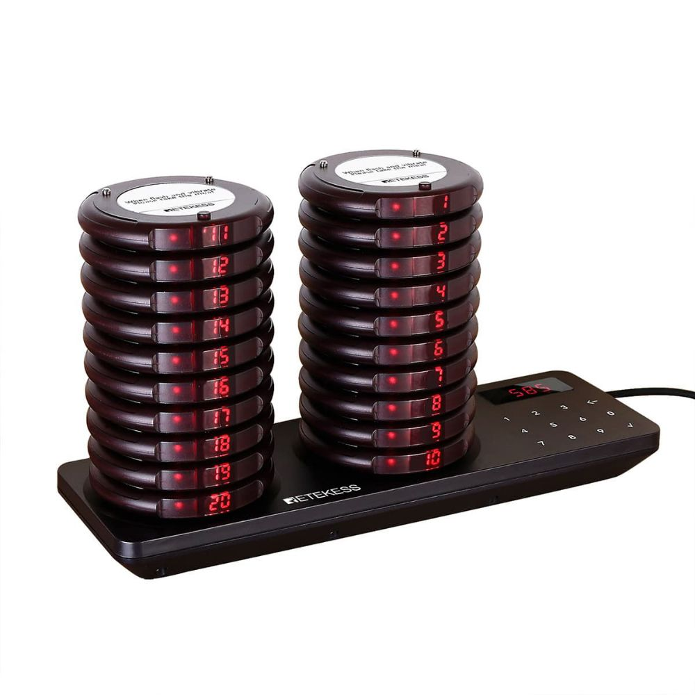 TD163 Wireless Paging System 20 Coaster Pagers