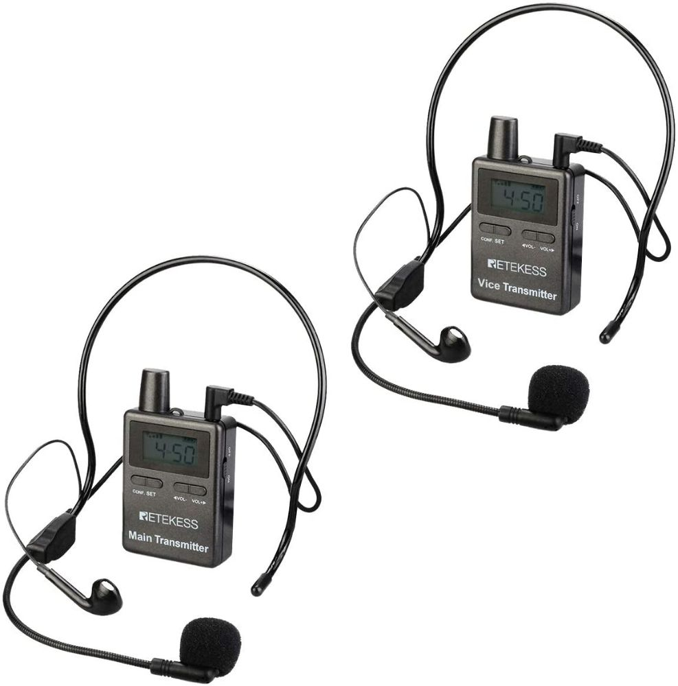 Retekess TT105,Wireless Tour Guide one main transmitter and one vice transmitter