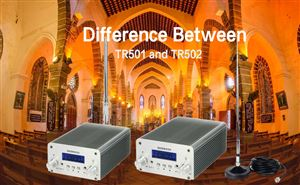 What is the difference between TR501 and TR502 FM Broadcast Transmitter? doloremque