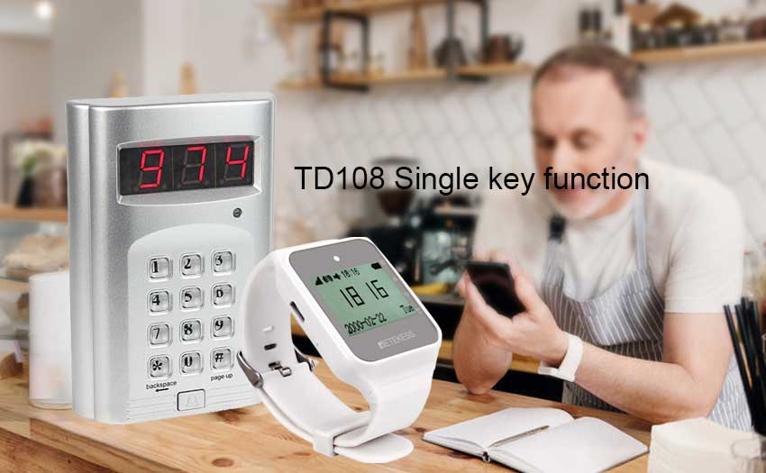 How to use TD108 watch receiver with single key function?
