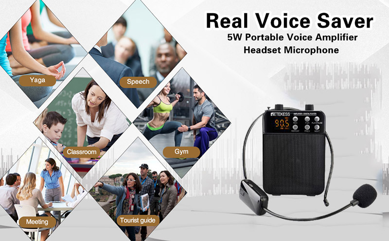 Retekess TR619 Voice Amplifier with Wireless Microphone