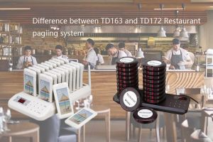 What is the difference between the TD163 and TD172 Restaurant Paging System? doloremque