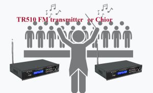 What can you do with the TR510 FM transmitter? doloremque