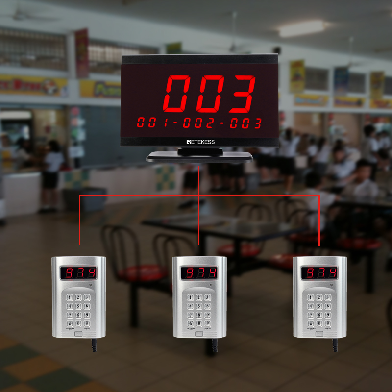 wireless calling system host receiver display with keypad restaurant vafe bank clink.jpg