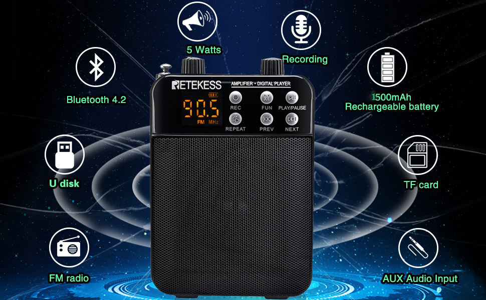 voice amplifier speaker functions