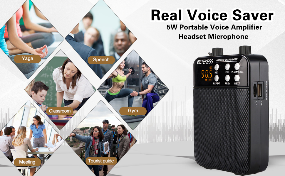 voice amplifier applications