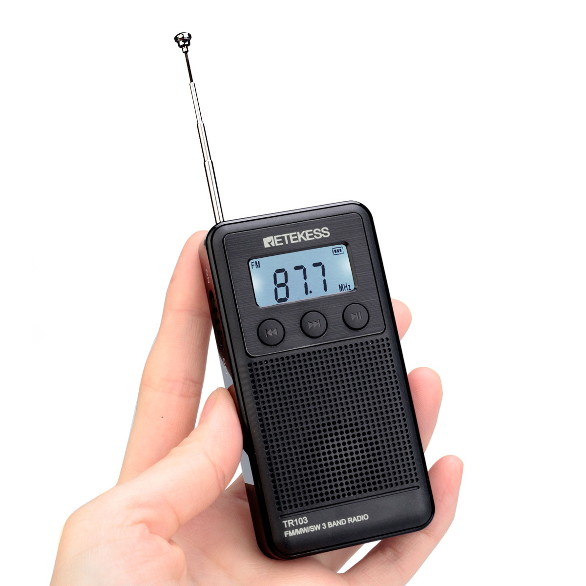 Retekess TR103 Portable AM FM Radio with Shortwave Digital